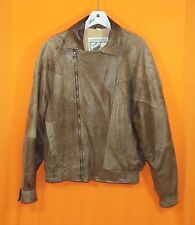 Men's New Zealand Outback Leather Bomber Jacket - Lined & Insulated - Brown - M