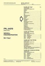 SAAB JA37D VIGGEN - FLIGHT MANUAL ( SPECIELL FORARINSTRUKTION ) PART 1
