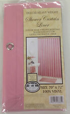 VINYL SHOWER LINER WITH MAGNETS AND GROMMETS ROSE PINK