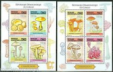 CONGO  2014   MUSHROOMS  SET OF TWO  SHEETS OF FOUR  MINT NH