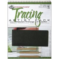 A4 Spiral Bound Tracing Pad 3 x Wooden Embossing tools & graphite paper RD501