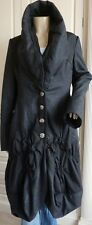 HIGH USE by CLAIRE CAMPBELL grey wool blend stunning parka coat  - XS/S UK8-10