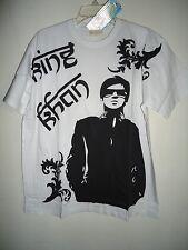 Sir Alistair Rai white T shirt Bollywood black King Khan design Logo SZ XL New