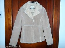 Vintage Suede Leather and Fur Women's Jacket by New York Classics. Medium Sized