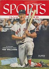 Sports Illustrated 8-1-55 Ted Williams - 1st SI Cover, Near Mint Condition'