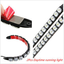 2x Flexible 12 LED DRL Daytime Running Driving Daylight Fog Light Lamp For Audi