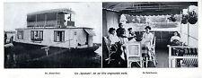 Hausboot Wasser-Villa Spreekahn mit Dach-Veranda Historische Aufnahmen von 1911