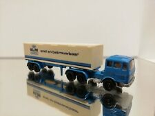 Efsi Mercedes truck with trailer KLM cargo fast and reliable 1:87 white blue