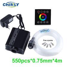 16W Fiber Optic Light Kit LED RGBW Wall Switch Touch controller 550pcs 4M Fibers