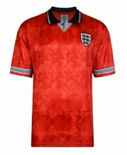 Official England Football 1990 Retro World Cup Finals Away Shirt | Adult | Red