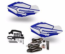 Powermadd Sentinel LED Handguards White / Blue Mount Ski Doo Hayes Snowmobile