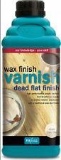 Polyvine CLEAR Wax Like Finish Acrylic Woodwork Varnish Dead Flat Finish 1L