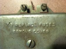 "++ Light'er UP!!! Vintage ""LIGHTS"" automotive fuse box"