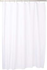 InterDesign Mildew-Free Waterproof Fabric Shower Curtain, X-Long, 72 x 96, White