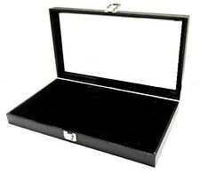 Jewelry Display Case Pad Glass View Top Organizer Multi Purpose Rings Bracelets