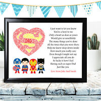 Dad Gifts Birthday Gift Hero Father's Day From Daughter Son Personalised Daddy