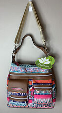 Lily Bloom Jessy Hobo/Crossbody Bag Tribal Stripe Pattern NWT Recycled Purse
