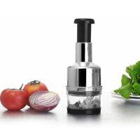Edelstahl Fruchtsalat Gemüse Zwiebel Hand Chopper B6Y6