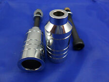 2 x CHROME SCOOTER ALLOY GRIND PEGS *NEW* WILL FIT MOST SCOOTERS