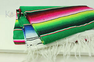 LARGE 5x7 Mexican Serape Blanket Authentic Sarape Saltillo Afghan Southwestern
