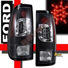 97-03 Ford F150 97-07 F250 F350 Super Duty Pickup LED Tail Lights Black