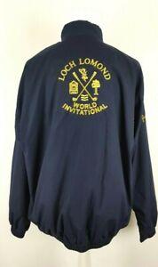 Vintage Loch Lomond World International Blue Pringle Golf JacketSize XL