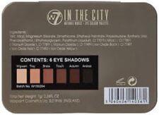 """W7 naturel nus """" dans ville """" 6 Yeux ombres Couleur palette 7G/024fl oz"""