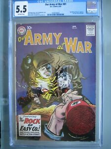 Our Army at War #81 CGC 5.5 DC Comics 1959 Last Sgt. Rock prototype Rare