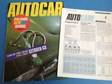 AUTOCAR MOTORING MAGAZINE 25 MARCH1971-MINI-BMW-TRIUMPH--JAGUAR XK120-CARB TUNE