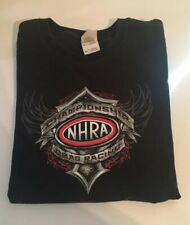 Vintage NHRA Championship Drag Racing Black Shirt Size Medium