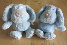 Set 2 par siguiente Azul Cachorro Perros Juguete Suave Felpa Edredón Bebé parche perro