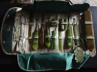 Vintage antique Permalite 1920s Jade color Nail Kit Complete Never Used 1920s
