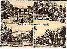 E 30 - Radiumbad Brambach - 4-Bild-Karte, ungelaufen