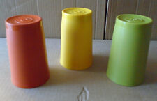 Vintage Lot of 3 Tupperware #1320 Green Orange Yellow Glasses 6 oz Tumblers sa