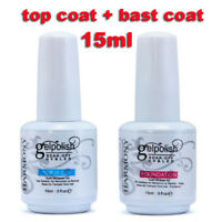 15ml Gel Nail Polish Soak Off LED UV Nail Gel Foundation No Wipe Top Base / Coat