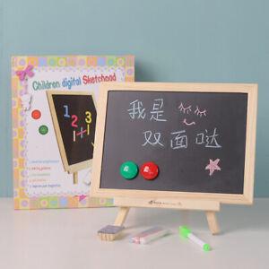 Mini Chalkboard Destop Blackboard Wood Frame Table-top Black Board With EaseHG