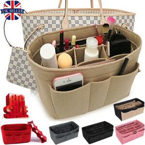 Women Organizer Handbag Felt Travel Bag Insert Liner Purse Organiser Pouch New