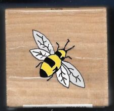 HONEY BEE Bumblebee Flying Insect 2010 STUDIO 18 Craft wood mount Rubber Stamp
