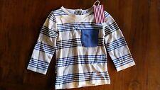 Sooki Baby Boys Long Sleeve Tan Stripe Shirt Sz0 Post E45