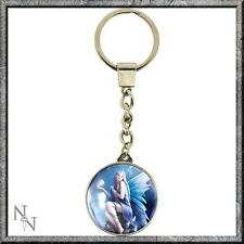 Stargazer Nemesis Now Glass Key Ring Designed by Anne Stokes Fairy With Crystal
