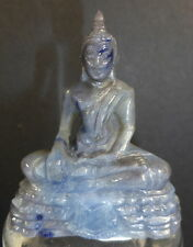 REAL NATURAL UNTREATED SAPPHIRE BUDDHA IN MEDITATION CARVING 274.5 cts. UNIQUE.