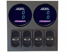 2 Dual Digital Display 200 psi Air Gauges Panel 4 Paddle Switches Air Suspension
