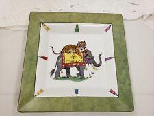 """Lynn Chase Designs Square Tray """"Tiger Raj"""""""