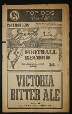 1945 VFL 2nd Eighteens  Final Fitzroy vs Collingwood Sep 15 Football Record