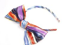 Unique Colorful Striped Large Bow Tie Statement Headband (S215)