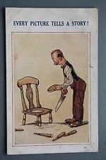 R&L Postcard: Comic, Bamforth Witty 1338, Old Chair, Tools, Woodwork, Sayings
