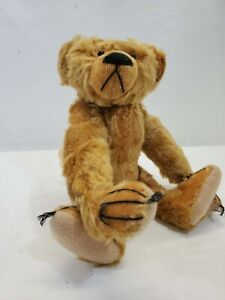 """LM Vintage Artist Bear Bearly There Attic Abe 15"""" Jointed Mohair Teddy Bear NEW"""