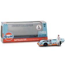Greenlight Porsche 917K Gulf Oil Steve McQueen with Figure Light Blue 1:43 86435