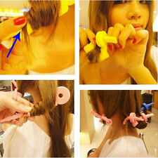 6Pcs Brand New Pink Soft Hair Curler Sponge Spiral Curls Roller DIY Hair Tools