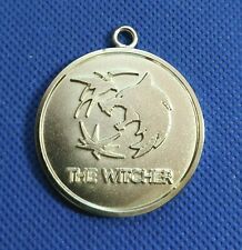 "RARE MEDAL NECK PENDANT  TOKEN ""THE WITCHER"" NETFLIX  SILVERPLATED  BRONZE"